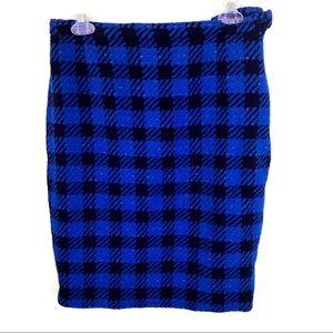 Escada | Blue Houndstooth Skirt Size US 12